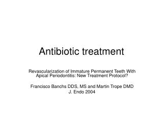 Antibiotic treatment