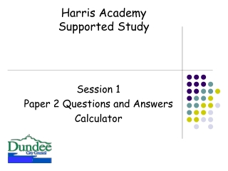 Session 1 Paper 2 Questions and Answers Calculator
