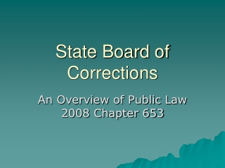 State Board of Corrections