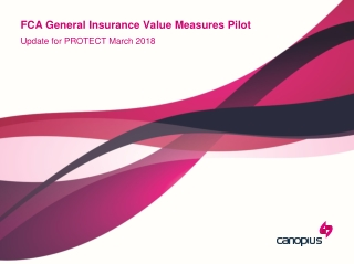 FCA General Insurance Value Measures Pilot