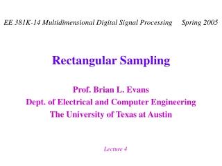 Rectangular Sampling