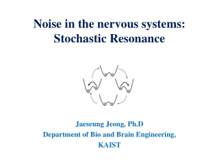 Noise in the nervous systems:  Stochastic Resonance