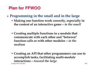 Plan for FFWOO