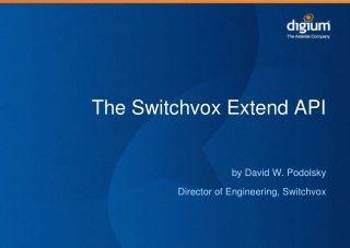 The Switchvox Extend API
