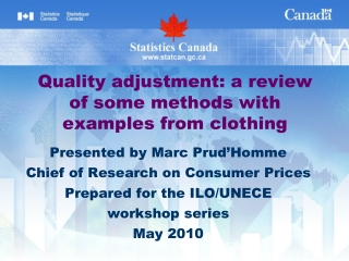 Quality adjustment: a review of some methods with examples from clothing