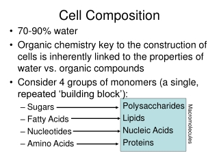 Cell Composition