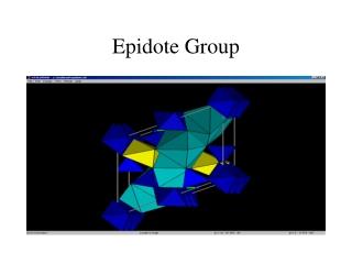 Epidote Group