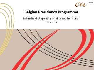 Belgian Presidency Programme in the field of spatial planning and territorial cohesion