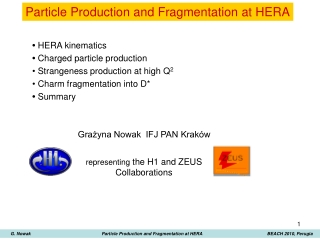 Particle P roduction  and Fragmentation at HERA
