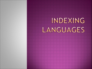 Indexing Languages