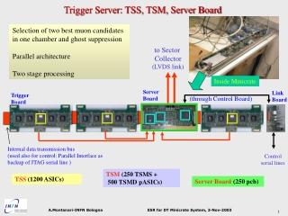 Trigger Server: TSS, TSM, Server Board