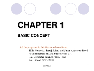 CHAPTER 1 BASIC CONCEPT