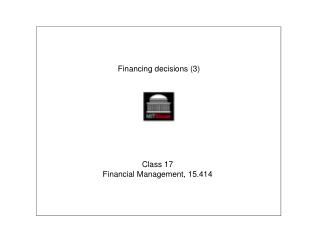 Financing decisions (3)