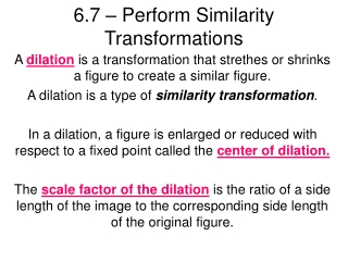 6.7 – Perform Similarity Transformations