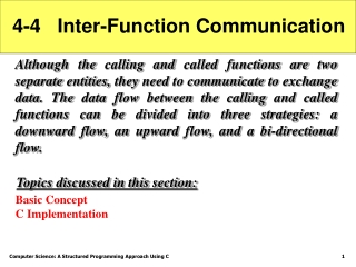 4-4   Inter-Function Communication