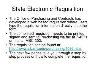 State Electronic Requisition