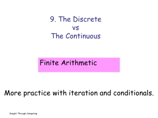 9. The Discrete  vs The Continuous