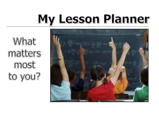 My Lesson Planner