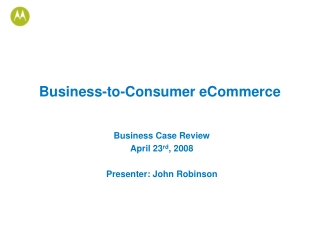 Business-to-Consumer eCommerce