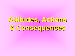 Attitudes, Actions & Consequences