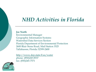NHD Activities in Florida