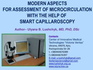 "Contacts  Center of Innovative Medical  Technologies ""Victoria  Veritas "" Ukraine, 04070, Kyiv,"