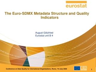 August Götzfried Eurostat unit B 4