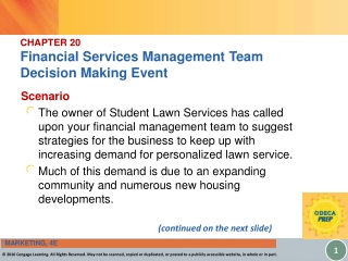 CHAPTER 20 Financial Services Management Team  Decision Making Event