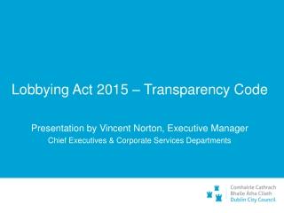 Lobbying Act 2015 – Transparency Code
