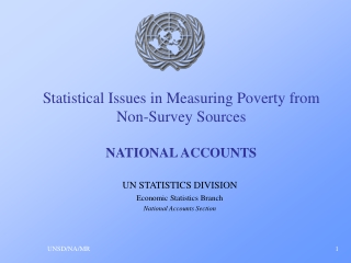 Statistical Issues in Measuring Poverty from Non-Survey Sources NATIONAL ACCOUNTS