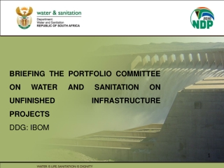 BRIEFING THE PORTFOLIO COMMITTEE ON WATER AND SANITATION ON UNFINISHED INFRASTRUCTURE PROJECTS