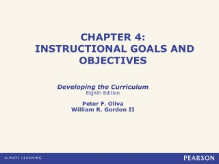 CHAPTER  4:  INSTRUCTIONAL GOALS AND OBJECTIVES