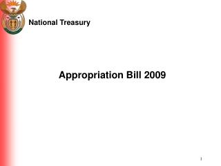 Appropriation Bill 2009