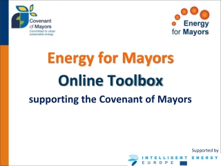 Energy for Mayors Online Toolbox supporting the Covenant of Mayors