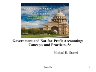 Government and Not-for-Profit Accounting: Concepts and Practices, 5e  						Michael H. Granof