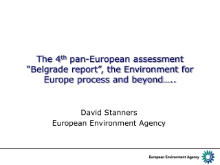 David Stanners European Environment Agency