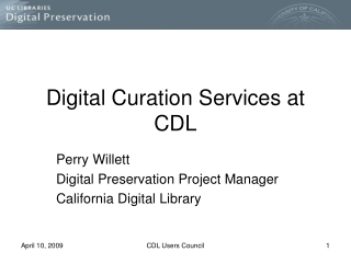 Digital Curation Services at CDL