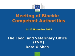 Meeting of Biocide Competent Authorities 11-12 November 2015