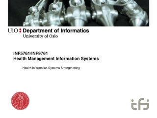 INF5761/INF9761 Health Management  Information  Systems