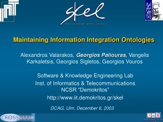 Maintaining Information Integration Ontologies