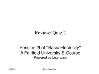 Review: Quiz 2