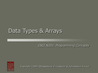 Data Types & Arrays