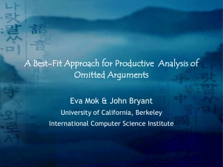 A Best-Fit Approach for Productive  Analysis of Omitted Arguments