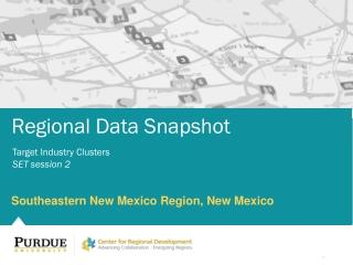 Regional  Data Snapshot