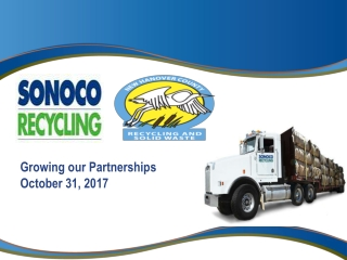 Growing our Partnerships October 31, 2017