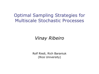 Optimal Sampling Strategies for Multiscale Stochastic Processes