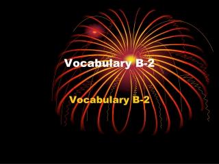 Vocabulary B-2