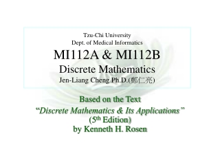 "Based on the Text  "" Discrete Mathematics & Its Applications""  (5 th  Edition) by Kenneth H. Rosen"