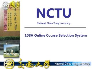 NCTU National Chiao Tung University