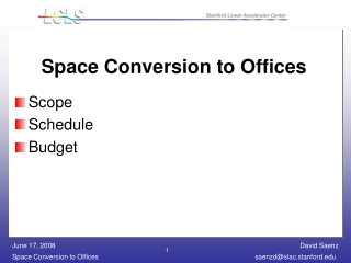 Space Conversion to Offices